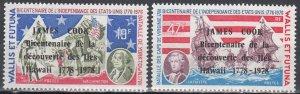Wallis & Futuna Islands, Sc 205-206, MNH, 1976, Battle of Yorktown