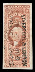 MOMEN: US STAMPS #R47a REVENUE PRINTED CANCEL XF