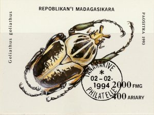 Malagasy Republic 1994 Insects Sheet Used 11887