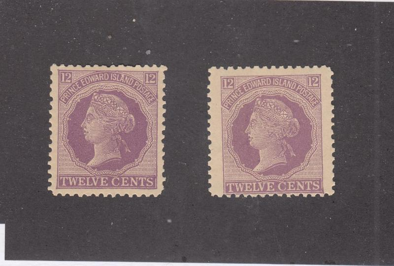 PRINCE EDWARD ISLAND REF# KM42 # 16 MNH 12cts 2 Q/VICTORIA VIOLET CAT VAL $36