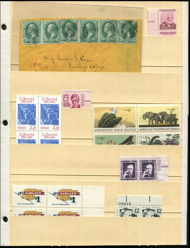 10 Manila Stock Pages Used Once, Clean, All 6 Pocket - Stamps Not Included