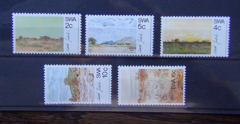 South West Africa 1973 Scenery Paintings by Adolf Jentsch set MNH ART