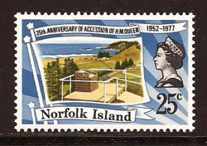 Norfolk  Island  #  218  Mint  N H