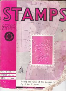 Stamps Weekly Magazine of Philately October 7, 1933 Stamp Collecting Magazine