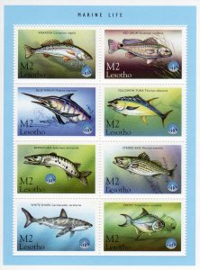 Lesotho 1998 Sc#1143 MARINE LIFE YEAR OF THE OCEAN Sheetlet (6) MNH