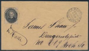 #15L18 JULY 25,1859 POSITION #35 ON COVER BS3184
