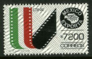 MEXICO Exporta 1770 $7200P Movies w/Burelage Paper 13 MNH