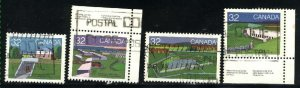 Can #986-87,990,992  used VF 1983 PD