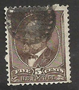 # 205 Yellow Brown Used Better Cancel James A. Garfield