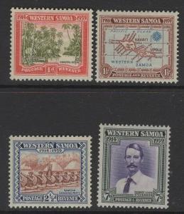 SAMOA SG195/8 1939 25th ANNIV OF NEW ZEALAND CONTROL MTD MINT