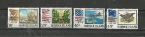 Norfolk Island Scott catalogue # 194-197 Mint NH American Bicentennial