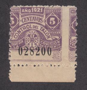 Argentina, Santa Fé, MNH. 1921 5c Comision de Fomento MISPERF Fiscal