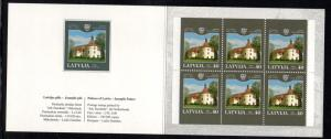 Latvia Sc 603a 2004 Palace stamp booklet mint NH
