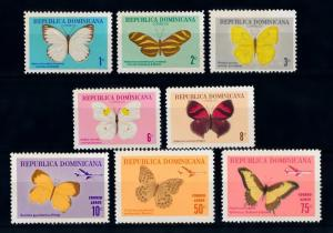 [71092] Dominican Republic 1966 Insects Butterflies  MNH