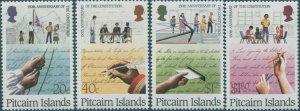 Pitcairn Islands 1988 SG327-330 Constitution set MNH