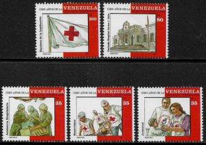 Venezuela #1525a-e MNH Set - Red Cross