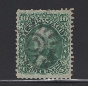 US Stamp Scott #68 USED 10C Green Washington SCV $55