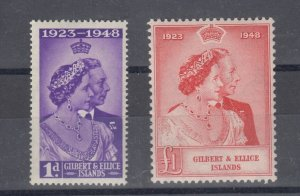 Gilbert & Ellice Islands KGVI 1948 Silver Wedding Set SG57/58 MLH J7608