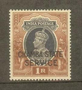 INDIA-CHAMBA SGO68 1940 1r GREY & RED-BROWN MNH