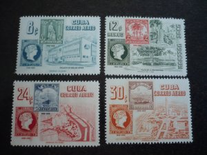 Stamps - Cuba - Scott#539-542,C110-C113 - Mint Hinged Set of 8 Stamps