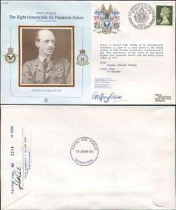 CDM2a RAF COMMANDERS SERIES Frederick Sykes Signed by Gp Capt G J Oxlee (M)