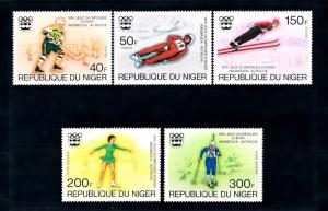 [46627] Niger 1976 Olympic Wintger Games Icehockey Luge Figure Skating MNH