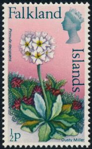 Falkland Islands 1972 Flowers ½p Dusty Miller SG276 MH