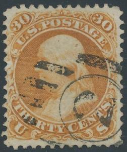 #110 30¢ 1875 RE-ISSUE F-VF USED GEM PF & PSE REG CNL 21 EXIST WLM5146 GPBB