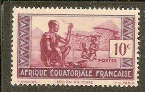 French Equatorial Africa  Scott 155A  People of Chad  MNH