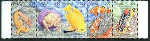PALAU Sc#178-82 1987 Fish Symbiotic Marine Species Complete Set OG Mint NH