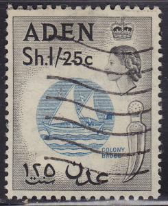Aden 56 Used 1956 Colony Badge
