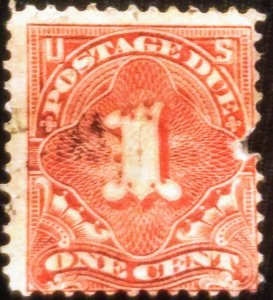 US  J52 used – 1914 1c Postage Due Stamp