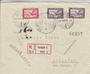 1932, Budapest, Hungary to Bucharest, Bulgaria, Registered (24278)