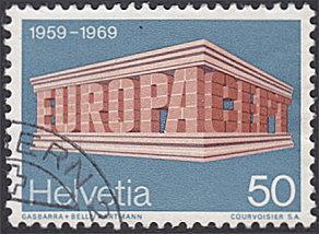 Switzerland # 501 used ~ 50¢ Europa - Brick Letters
