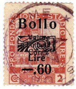 (I.B) Italy Revenue : Fiume Duty 0.60L on 5c OP