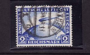 Scan#5456-Germany-Sc#C36-used Airmail-2M ultra-Graf Zeppelin
