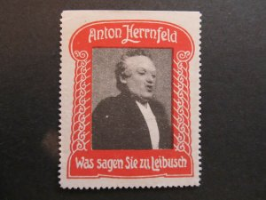 A4P4F34 Reklamemarke Herrnfeld-Theater mint no gum