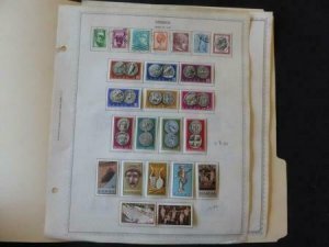 Greece 1958-1959 Stamp Collection on Album pages
