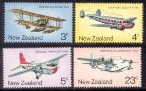 New Zealand Sc# 556-9 MNH Aircraft