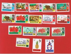 Bahamas #313//330  MNH OG  Elizabeth ll & Various Scenes  Free S/H