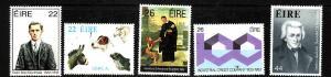 Ireland-Sc#568-72-unused NH set-Anniversaries-US President Andrew Jackson-1983-