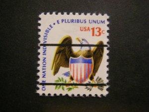 Scott 1596, 13 cent precancel, shiny gum, MNH Americana Beauty