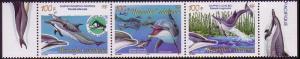 New Caledonia Dolphins 3v se-tenant SG#1345-1347