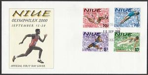 NIUE 2000 Olymphilex - Sports - ......FDC..................................27818