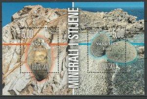 Croatia 2018 Minerals and Rocks MNH block