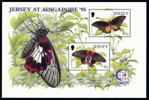 [79050] Jersey 1995 Insects Butterflies Schmetterling Souvenir Sheet MNH