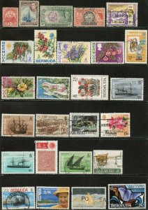 BERMUDA Sc#83//742 1922-1997 43 Different Stamps Used