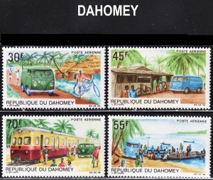 Dahomey Scott C81-84 complete set F to VF mint OG NH.