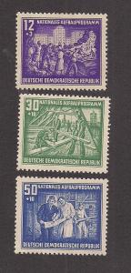 GERMANY - DDR SC# B22-5 F-VF OG 1952