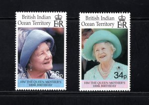 British Indian Ocean Territory, Scott 223-4  VF,  MNH, CV $4.50 .... 0870041